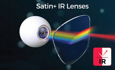 Comparison of Satin Plus IR with normal lenses