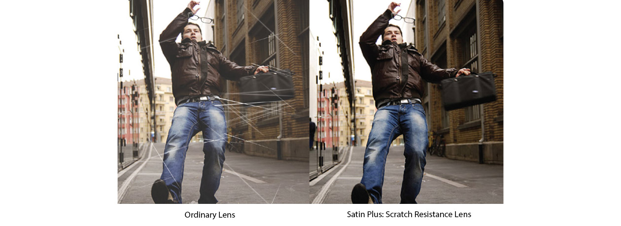 The clear advantage of Scratch Resistance Coating from Satin Plus