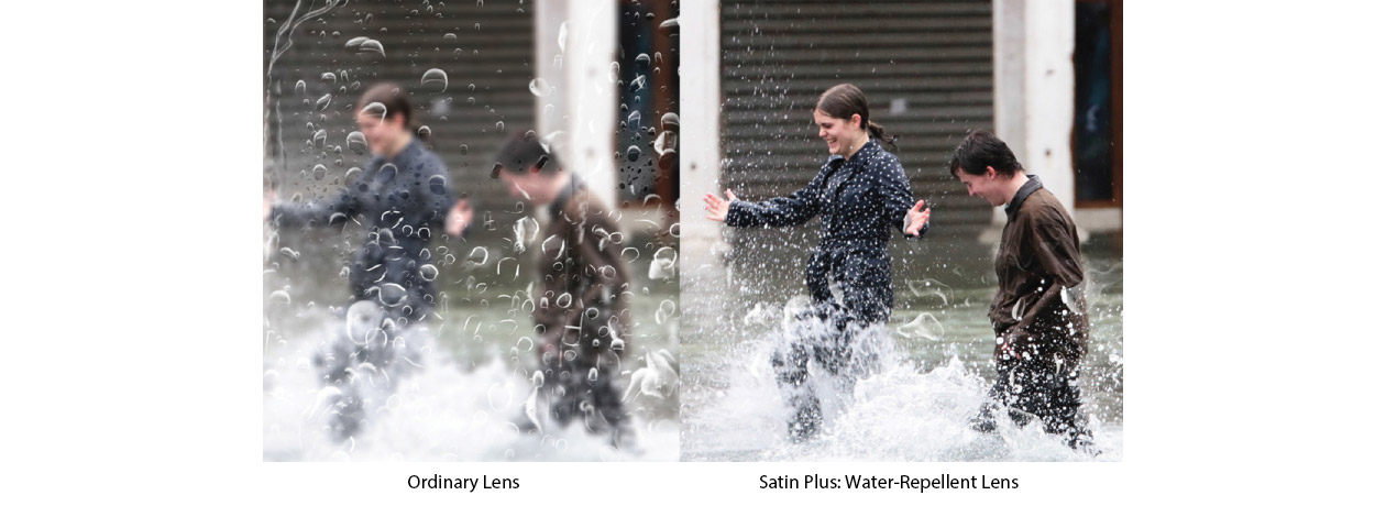 The clear advantage of Water-Repellent from Satin Plus